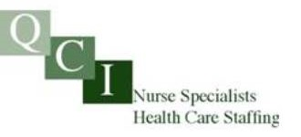 QCI Nurse Specialists Health Care Staffing